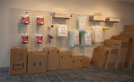 Packing supplies are available for purchase at our office.